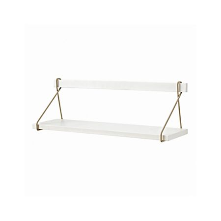 Suspension White Wall Mounted Shelf + Reviews | Crate and Barr