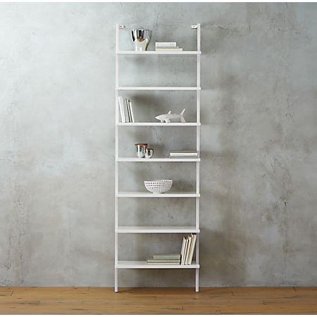 Stairway White Ladder Bookcase + Reviews | C