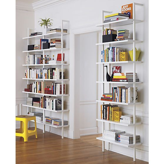 """Stairway White 96"""" Wall Mounted Bookcase (With images) 