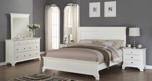Amazon.com: Roundhill Furniture Laveno 012 White Wood Bedroom .