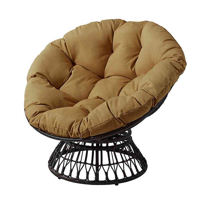 Destination Summer Papasan Wicker Chair in Brown | Bed Bath & Beyo