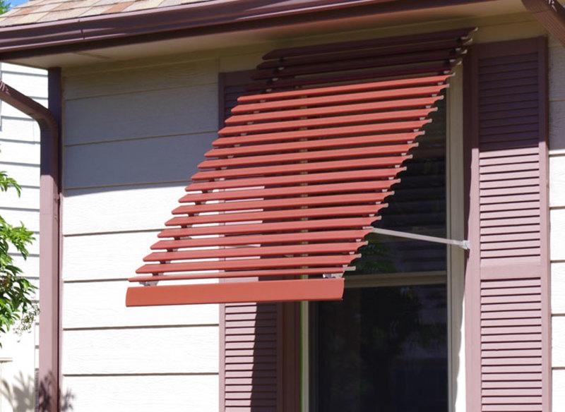 Panorama Window Awning - Custom Colo