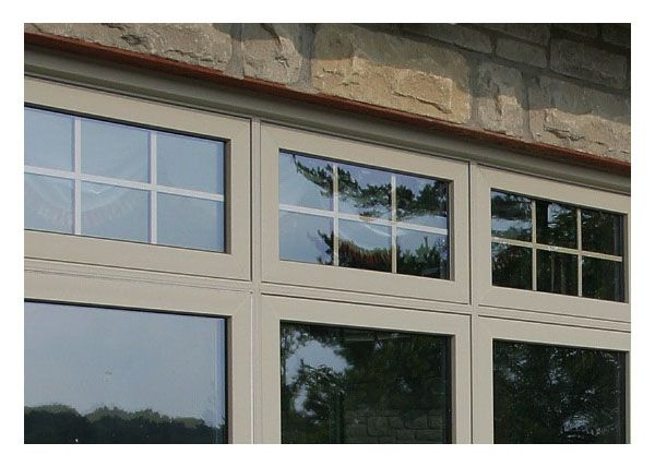 North Star - Awning window over picture and casement windows .