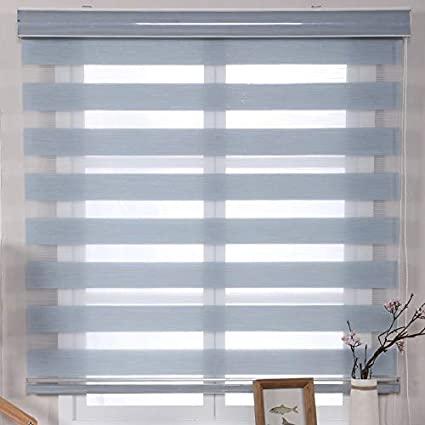 Amazon.com: Wood Horizontal Window Blinds,Linen Roller Blind .
