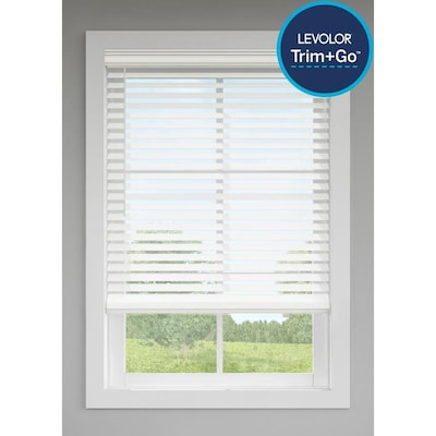 LEVOLOR Trim+Go 2.5-in Cordless White Faux Wood Room Darkening .