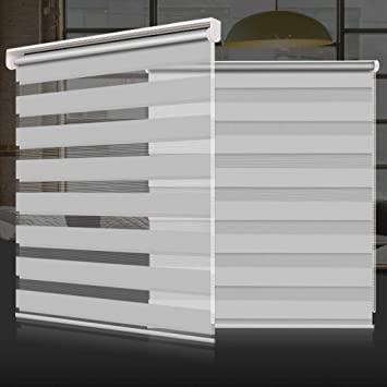 Amazon.com: SEEYE Zebra Shade Blinds Horizontal Window Curtain Day .