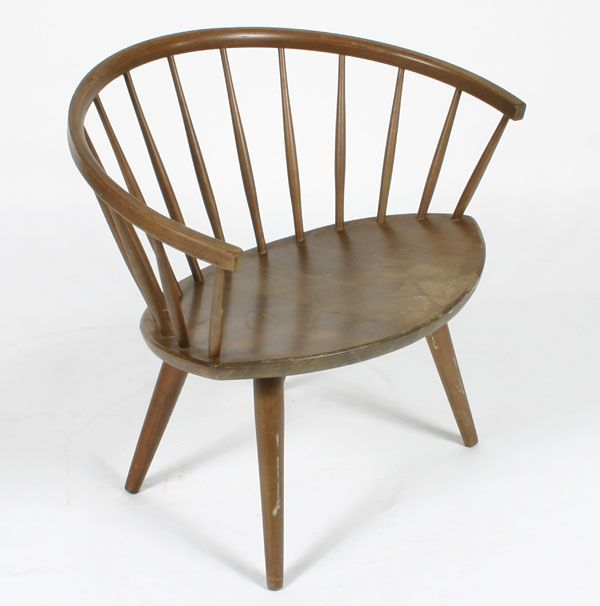 danish spindle back windsor chair | Yellow chair, Wooden chair .