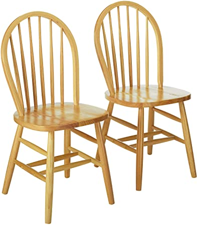 Amazon.com - Winsome Windsor 2Pc Set RTA Chair, Natural - Chai