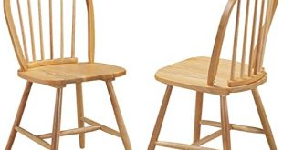 Amazon.com - Giantex Set of 2 Windsor Chairs, Country Wood Chairs .