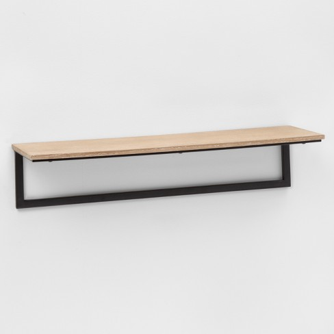 """23.7"""" X 7"""" Wood & Metal Wall Shelf - Project 62™ : Targ"""