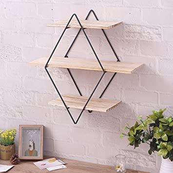 Amazon.com: cheerfullus Iron Wall Shelves Brackets Art Wooden Wall .