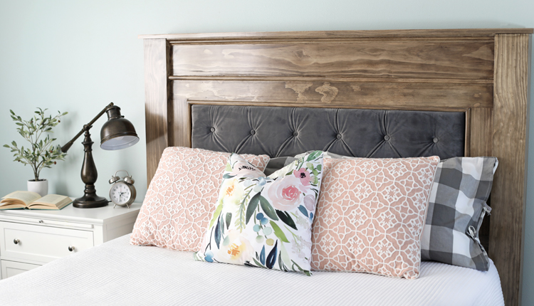 DIY Wood & Upholstered Headboard - The Craft Pat