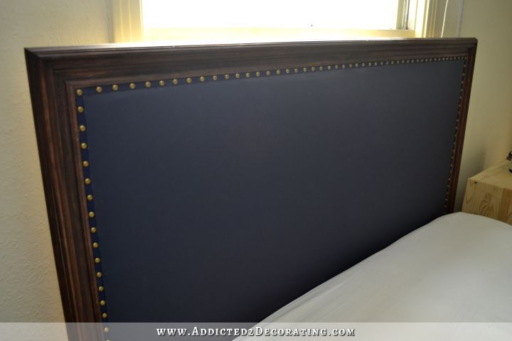 DIY Wood Framed Upholstered Headboard With Nailhead Trim .