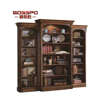 American Antique Design Bookshelf Cabinet Discount Solid Wood .