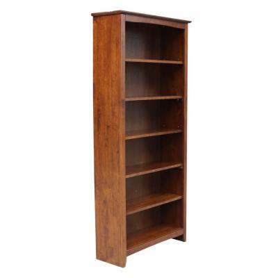 International Concepts 72 in. Espresso Wood 6-shelf Standard .