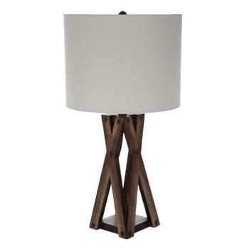Brown Crossed Wood Lamp | Hobby Lobby | 17650