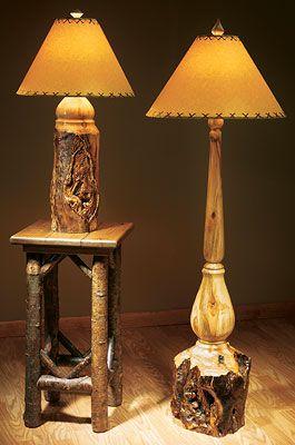 Rustic Aspen Log Lamps | Wild Wings | Wood turning, Wood lamps .