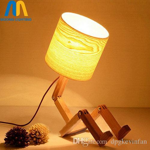 2020 Modern Wood Robot Table Lamps For Living Room Bedside Bedroom .
