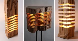 Sliced Lamps Made From Real Firewood Show The Beauty Of Simple Thin