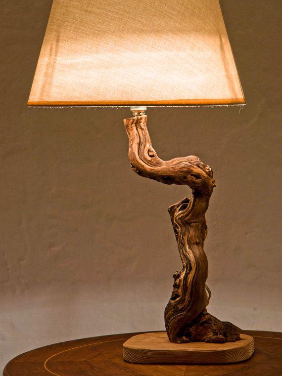 Luxurious Lamp, Driftwood Lamp, Reclaimed Wood Lamp, Natural Lamp .