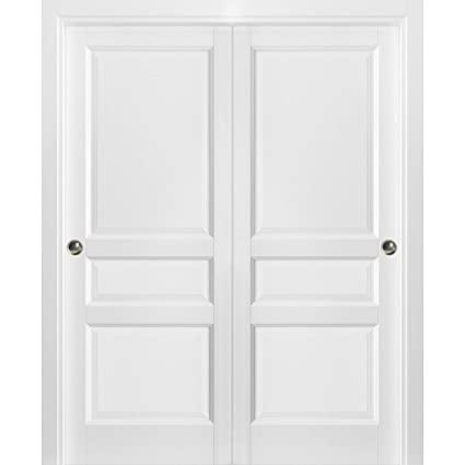 Sliding Closet Bypass Doors 72 x 84 with Hardware | Lucia 31 Matte .
