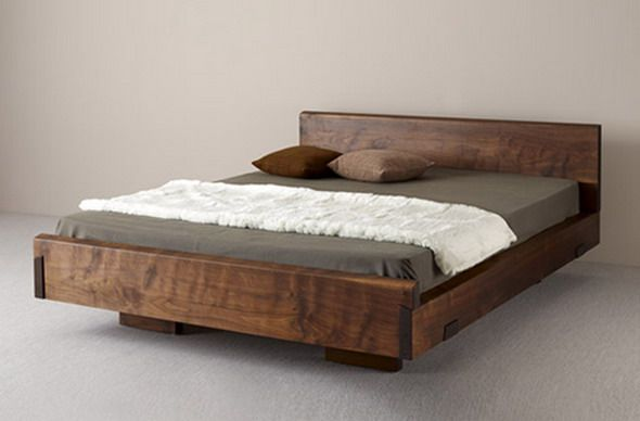 Natural Wood Beds by Ign. Design. - rustic knotty wood | Wood bed .