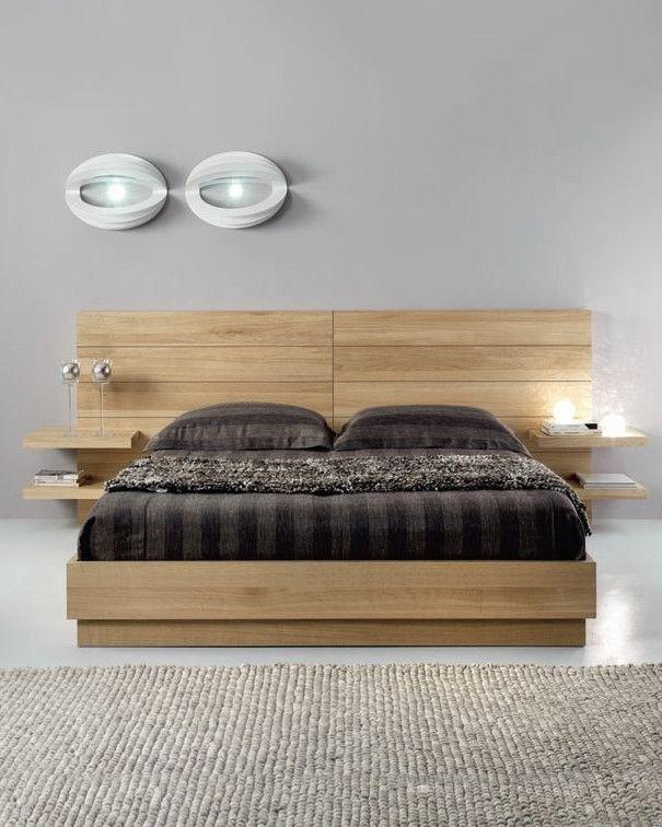 Oak double #bed FLYER by Domus Arte #wood | Bedroom bed design .