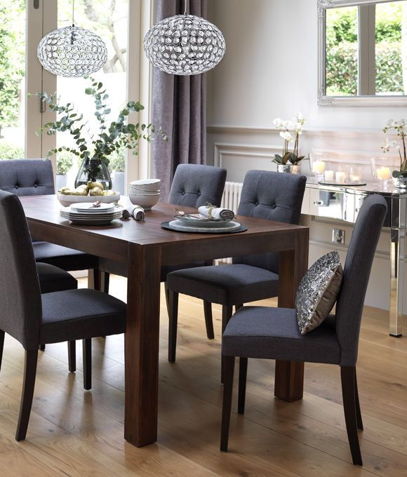 Home Dining Inspiration Ideas. Dining room with dark wood dining .