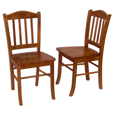 Set Of 2 Shaker Dining Chair Wood/Oak - Boraam : Targ