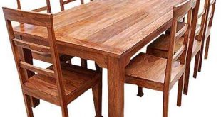 Rustic Furniture Solid Wood Dining Table & Chair S