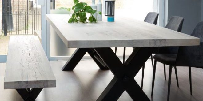 Home of Teak Furniture (With images) | Metal dining table, Modern .