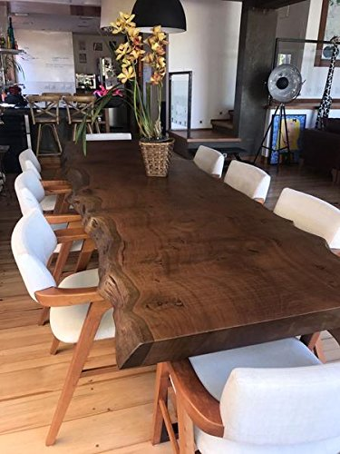 Amazon.com - Dark Solid Wooden Dining Table with Beautiful Live .