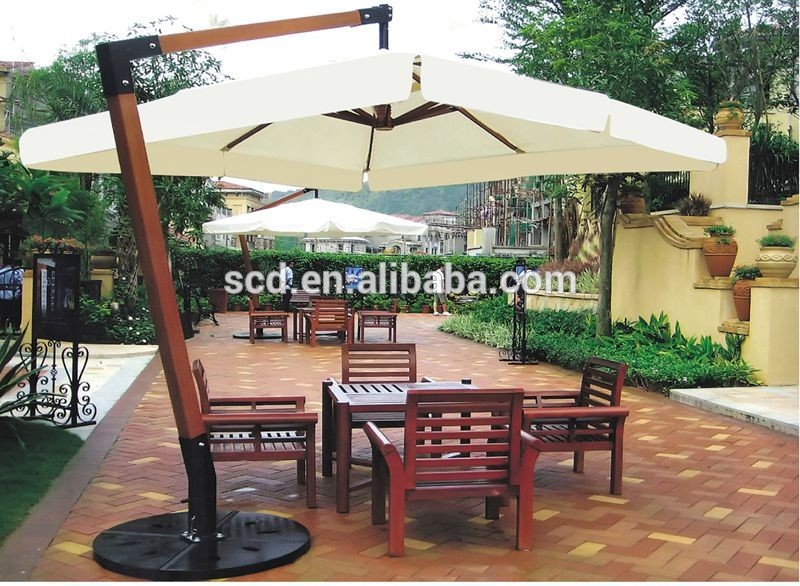 big sun parasol wooden garden umbrella, View sun garden parasol .