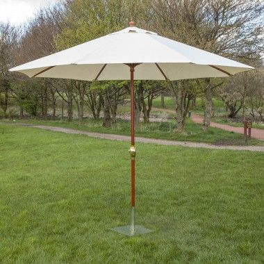 3m Wooden Wind Up Garden Parasol | Wooden garden furniture, Market .