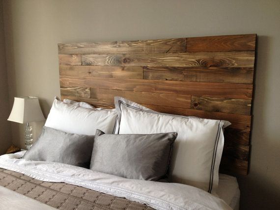 Barn Wood Style Platform Bed Frame & Headboard Set - Original .