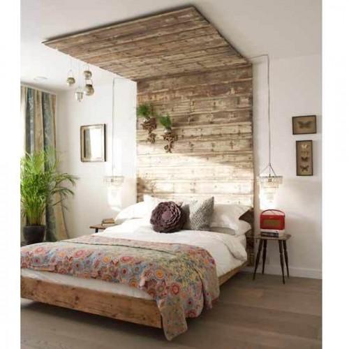 DIY Canopy-Like Wooden Headboard - Shelterne