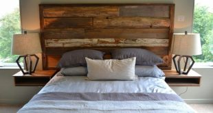 20 Beds With Beautiful Wooden Headboards   Reclaimed wood .