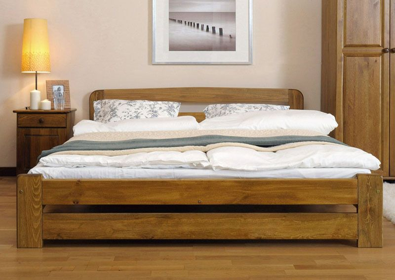 "Details about *NODAX* New Solid Wooden King Size Bedframe ""F10 ."