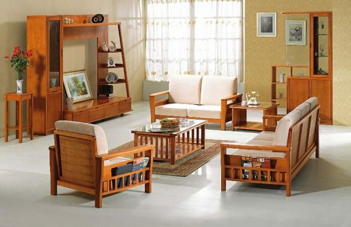 modern wooden sofa furniture sets designs for small living room .