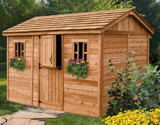 Outdoor Living 12' X 8' Cabana Garden Shed - Wood She