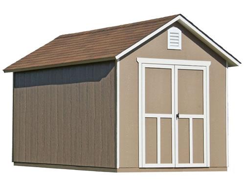 Handy Home Meridian 8x12 Wood Storage Shed w/ Floor (19350-
