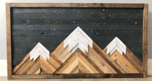 Mountain Wood Wall Art/Decor   Wood wall art decor, Reclaimed wood .