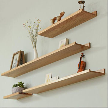 China Wooden wall mounted shelf which from Yantai Manufacturer .