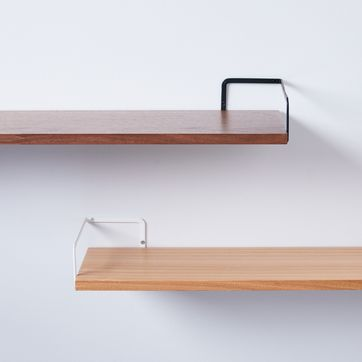 Steel & Wood Wall-Mounted Shelf on Food