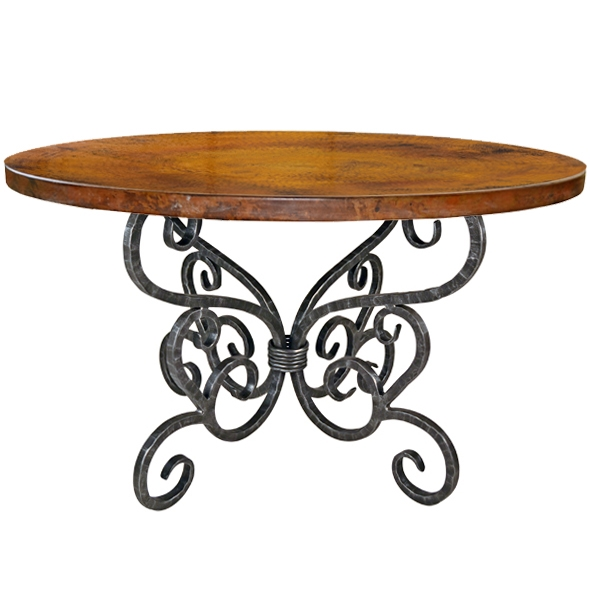 Alexander Wrought Iron Dining Table | 48in Round T