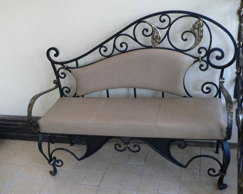 Wrought Iron Furniture, Chairs and Benches, Modern Interior .