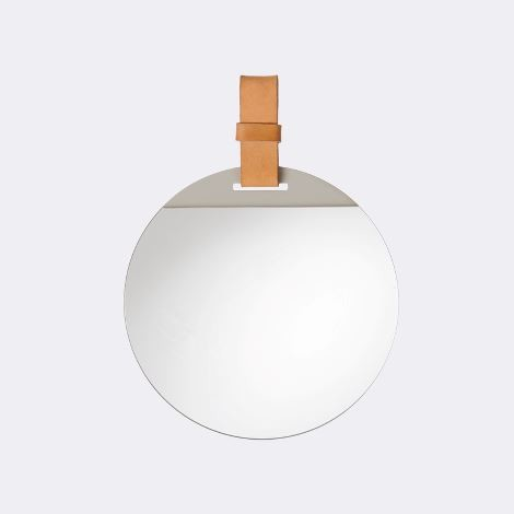 Leather mirror handle