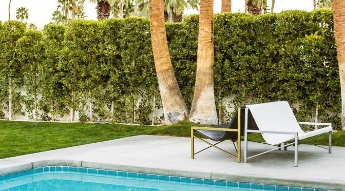 Pool side metal chair