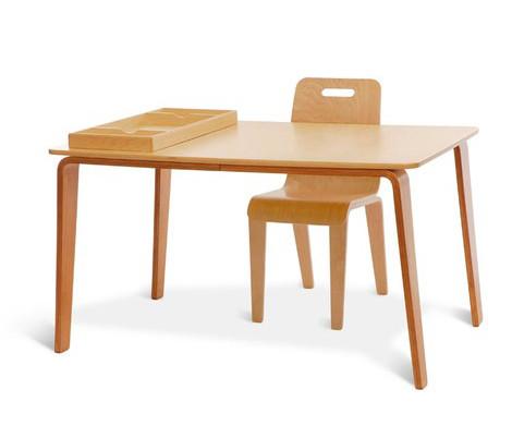 Modern wooden children craft table