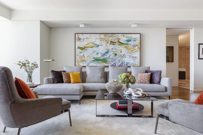 gray sofa art
